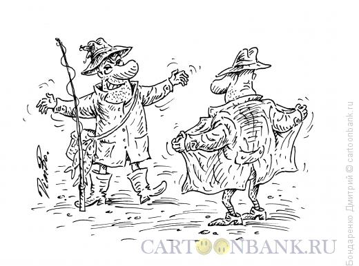 Карикатура: Два хвастуна, Бондаренко Дмитрий