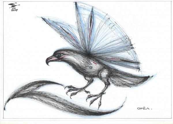 Карикатура: Орёл . Мораль сей басни в том , что и колибри может стать орлом ., Юрий Косарев