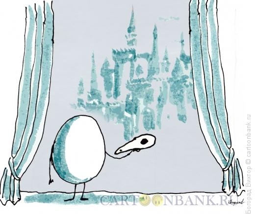 Карикатура: Птичий Гамлет, Богорад Виктор