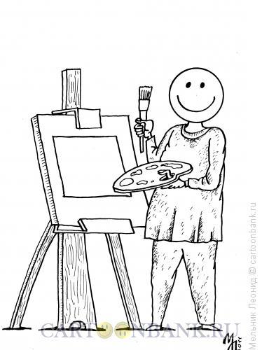 Карикатура: Квадрат, Мельник Леонид