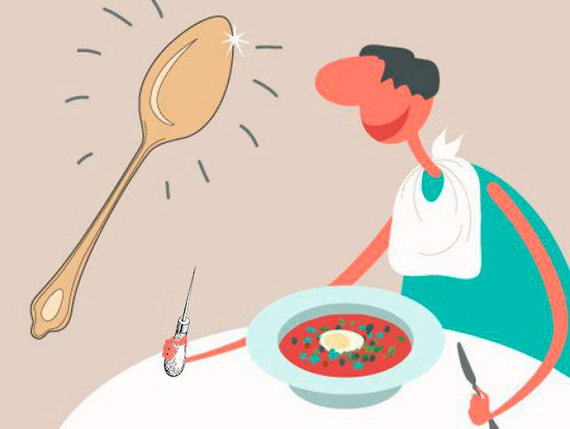 Мем: - Вся наша жизнь — это суп, а у меня в ней — вилка. - Тебе повезло дружище! У меня вообще - шило..., Evgeny Buratino