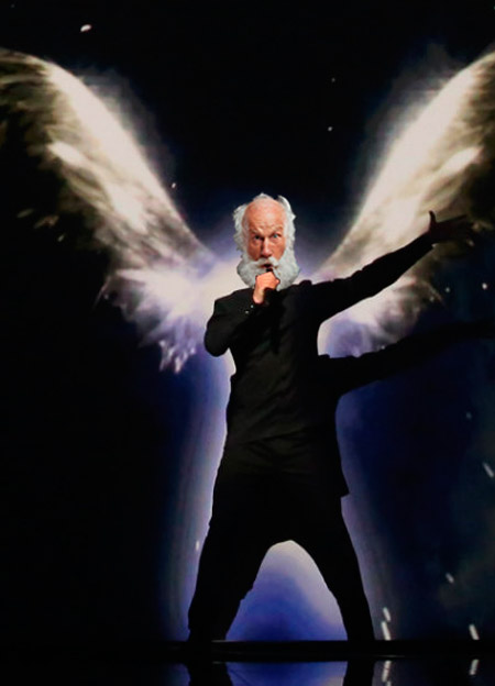 Мем: 2049 г: - Слыхали, Лазарев опять едет на Евровидение! - И что? Главное для нас - это стабильность! - ВЫ абсолютно правы Владим Владимыч!!!, Evgeny Buratino