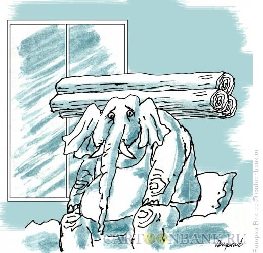 Карикатура: Утренняя усталость, Богорад Виктор