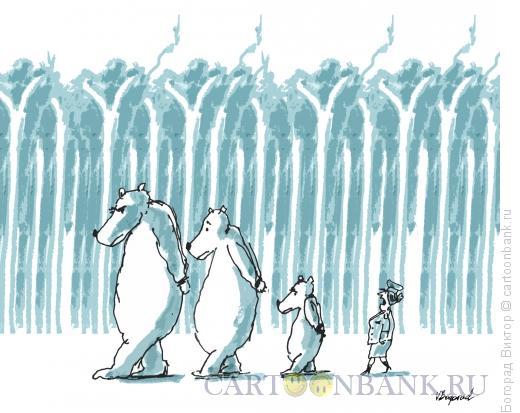 Карикатура: Маша и три медведя, Богорад Виктор