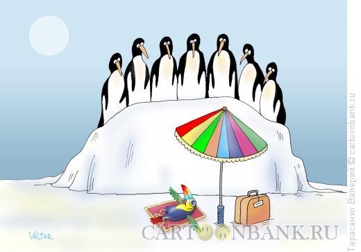 Карикатура: Перелетная птица, Тарасенко Валерий