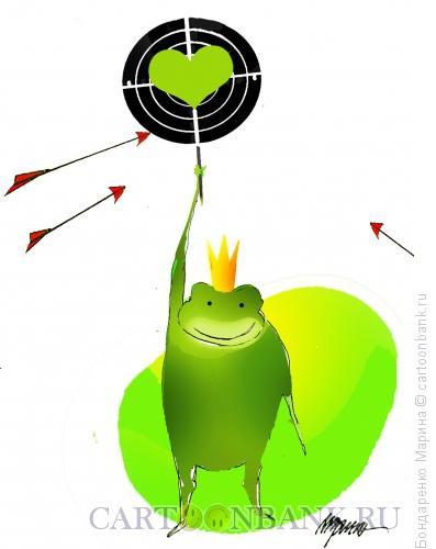 Карикатура: Лягушка Мишень Стрелы, Бондаренко Марина