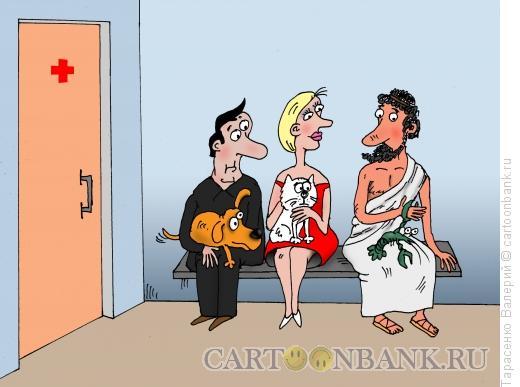 Карикатура: Приехал Грека, Тарасенко Валерий