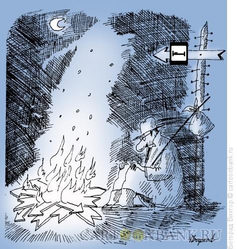 Карикатура: Главное направление, Богорад Виктор