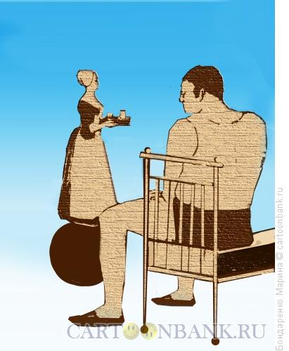 Карикатура: Шоколадница на шаре, Бондаренко Марина