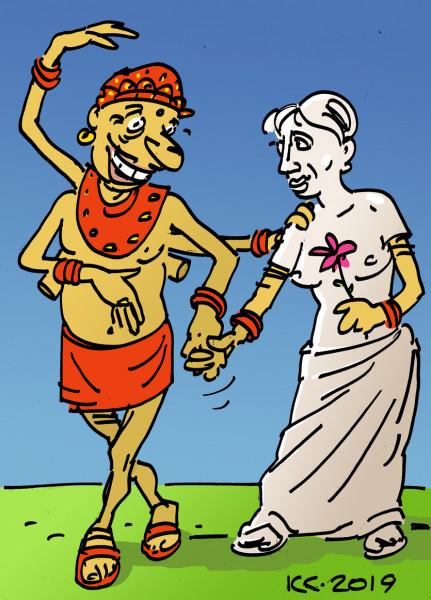 Карикатура: Предлагаю вам руку, даже две!, Вячеслав Капрельянц