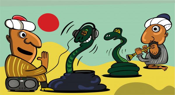 Карикатура: Заклинатели змей, somnambula