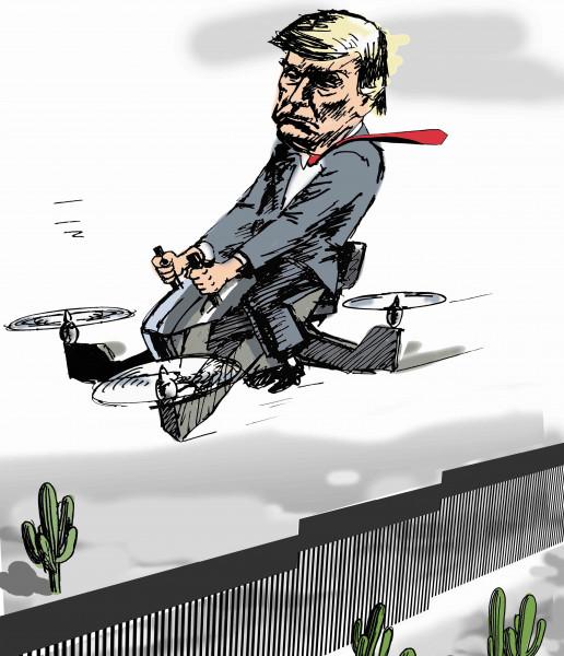 Карикатура: Личный облёт стены, osipovva
