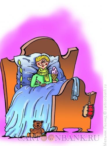 Карикатура: Отчего болеют дети?, Мельник Леонид