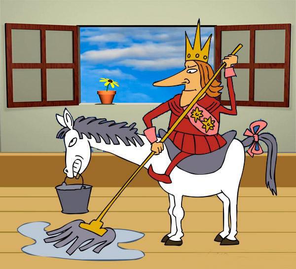 Мем: Есть женщины в русских селениях. Коня на скаку остановит. Белого, с принцем,  и - трудоустроит..., Evgeny Buratino