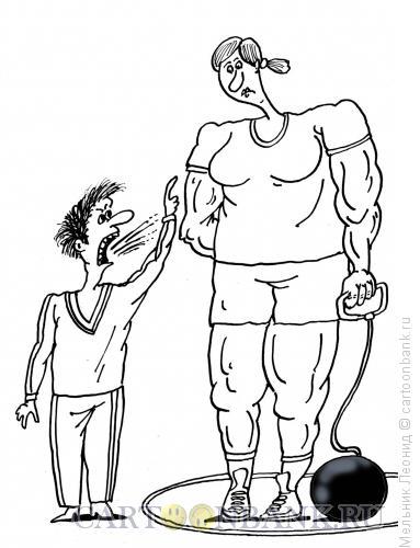 Карикатура: Тренер, Мельник Леонид