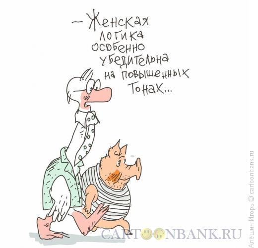 Карикатура: женская логика, Алёшин Игорь