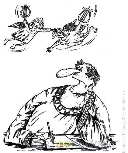 Карикатура: Битва, Мельник Леонид