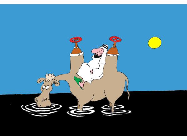 Карикатура: Корабль пустыни, Михаил Ларичев