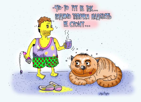 Карикатура: от этих котиков всяко можно ожидать, leon2008