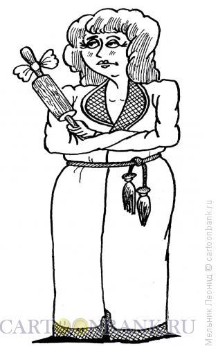 Карикатура: В ожидании встречи, Мельник Леонид