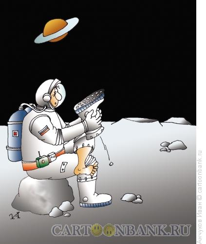 Карикатура: Астронавт, Анчуков Иван
