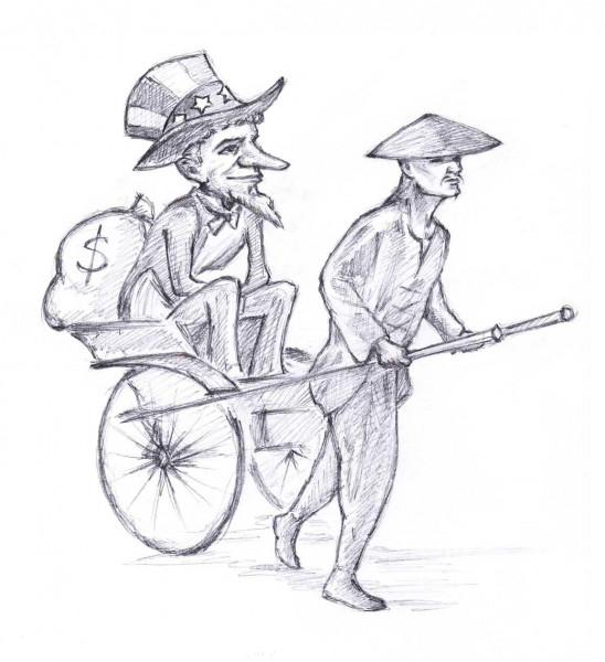 Карикатура: Локомотив мировой экономики, Дмитрий Форвардер