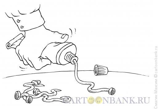 Карикатура: Жидкие гвозди, Смагин Максим