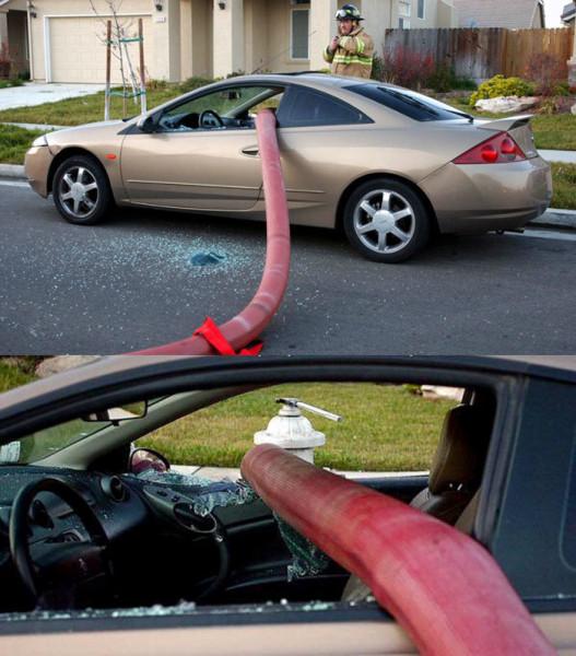 Мем: Неправильная парковка пожарным не проблема., Дед Макар