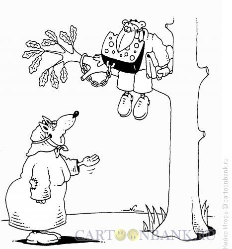 Карикатура: Пенсионерка и чиновник, Кийко Игорь