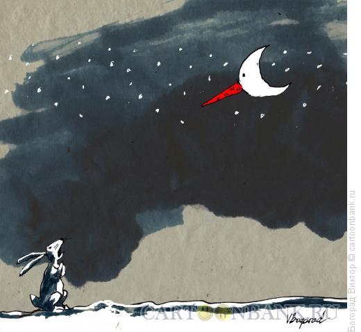 Карикатура: Зимний пейзаж, Богорад Виктор