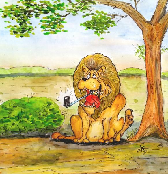 Карикатура: Селфи, Serrega