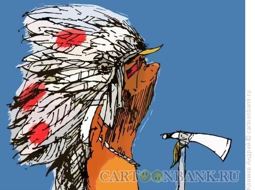 Карикатура: На тропе войны, Климов Андрей