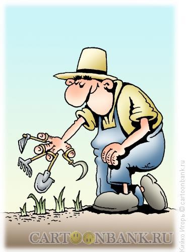 Карикатура: Фермер, Кийко Игорь