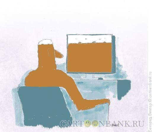 Карикатура: Телезритель, Богорад Виктор