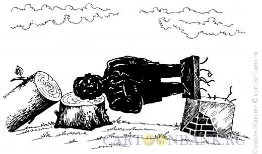 Карикатура: Памятник на плахе, Смагин Максим