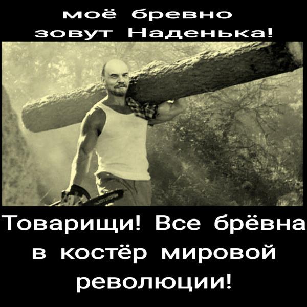 Мем: Ильич и бревно, ivizken