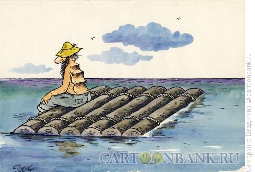 Карикатура: Путешественник, Семеренко Владимир