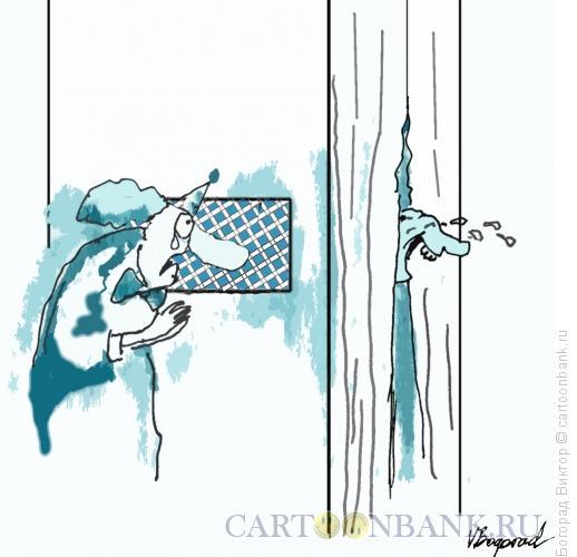 Карикатура: Клоун на исповеди, Богорад Виктор