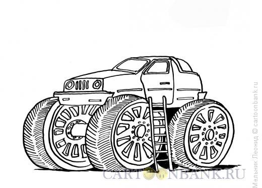 Карикатура: Суперавто, Мельник Леонид