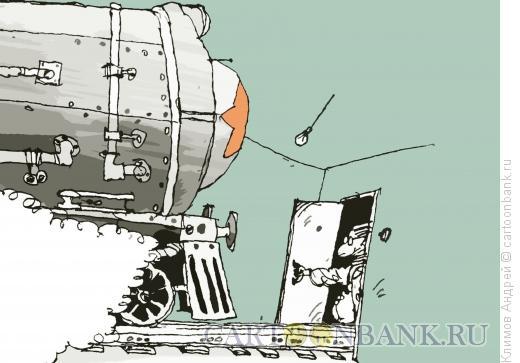 Карикатура: Паровоз, Климов Андрей