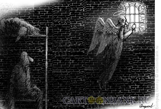 Карикатура: В камере, Богорад Виктор