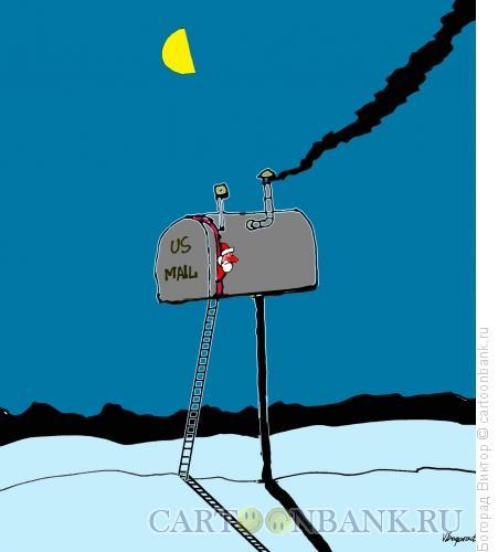 Карикатура: Дом Санта Клауса, Богорад Виктор