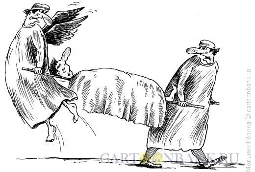 Карикатура: Тянем-потянем, Мельник Леонид