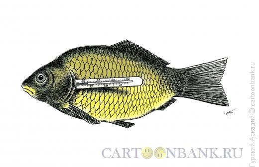 Карикатура: рыба, Гурский Аркадий