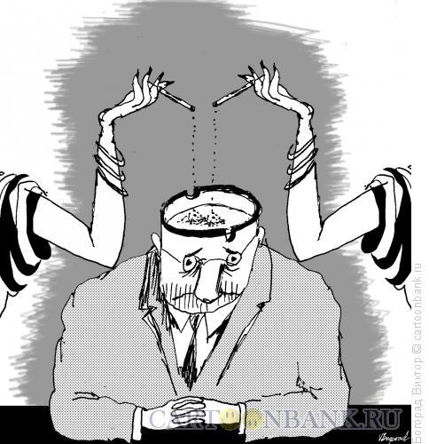 Карикатура: Пепельница, Богорад Виктор