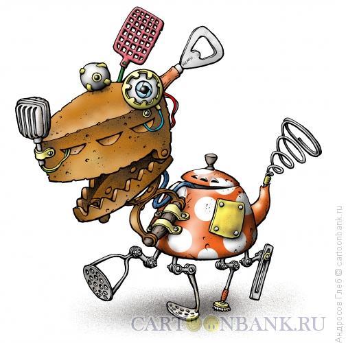 Карикатура: Робот-дворняга, Андросов Глеб