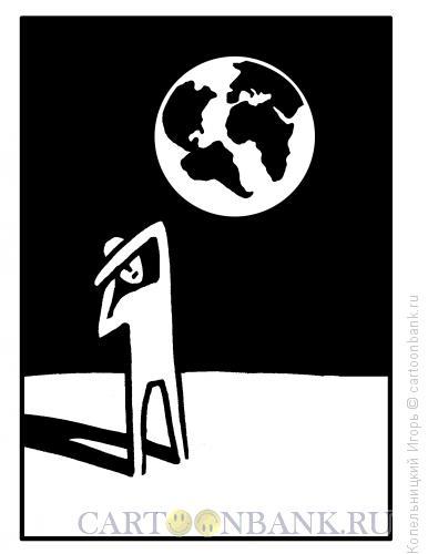 Карикатура: планета угрожает человеку, Копельницкий Игорь