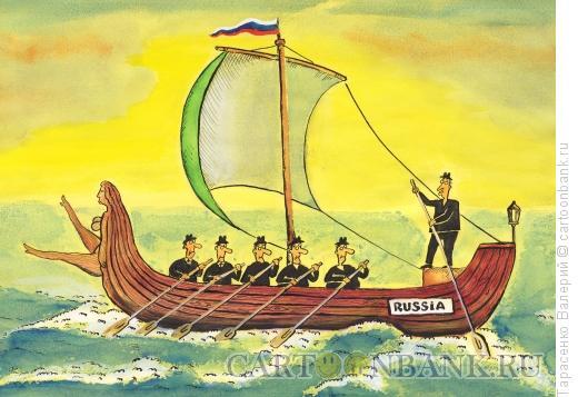 Карикатура: Курс на запад, Тарасенко Валерий