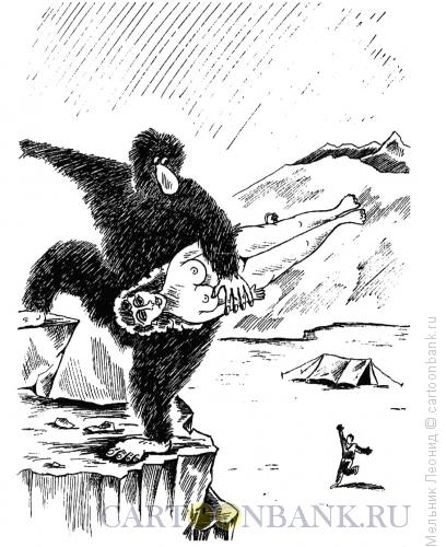 Карикатура: Йети, Мельник Леонид