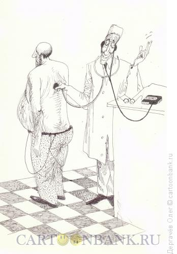 Карикатура: Меломан, Дергачёв Олег